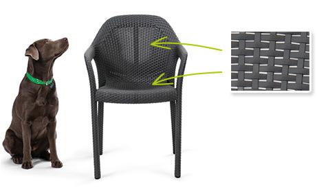 Transpirable en la zona del asiento y del respaldo